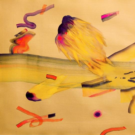 Innesti (Mattino dorato), acquerello su carta, 70x70 cm,2018 -Euro 1400