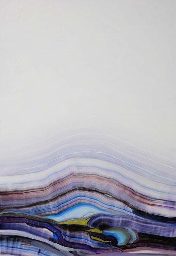 Conversazioni extraterrestri (extraterrestrial conversations) Aureo, oil on canvas 70x100 cm 2019_