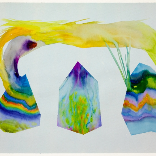 Isabella Nazzarri, Sistema Innaturale #48, 2016, 50x70cm, watercolor on paper