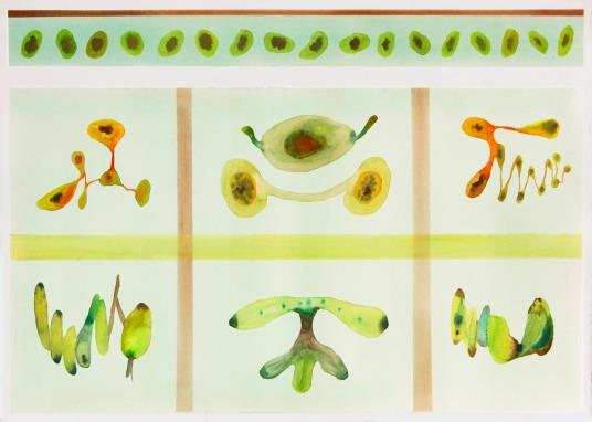 Sistema Innaturale 21, acquerello su carta 50x70 cm 2016