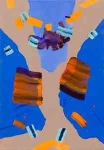 Isabella Nazzarri, Acquario fluttuante della domenica, 100x70 cm, acrilico su tela