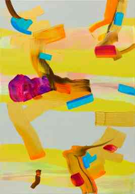 Isabella Nazzarri, Costruzione estiva di meditazione, 100x70 cm, acrilico su tela