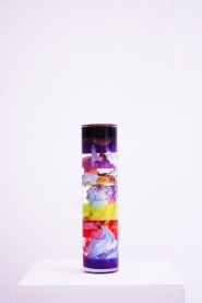 Monade, resina plexiglass pigmenti, silicone, acrilico, 10x40 cm, 2018